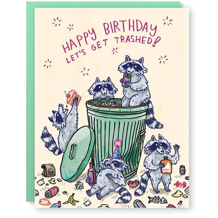 Birthday Raccoons