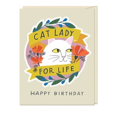 Cat Mom Sticker Card