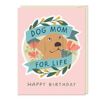 Dog Mom Sticker Card