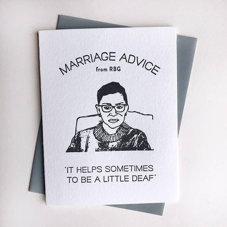 RBG Marriage Advice