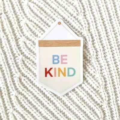 Banner Be Kind Sticker