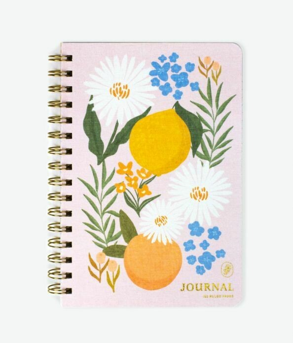 Citrus Florals Wire Notebook