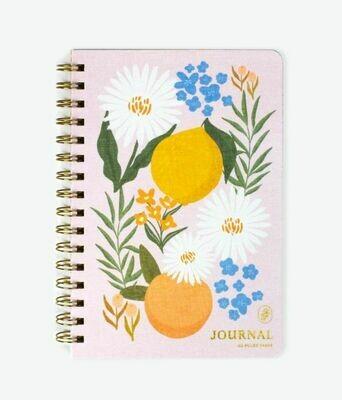 Citrus Florals Wire Notebook