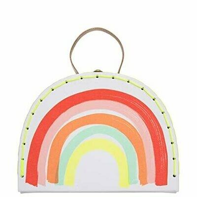 Large Rainbow Suitcase