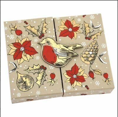 Poinsettia Gift Card Box