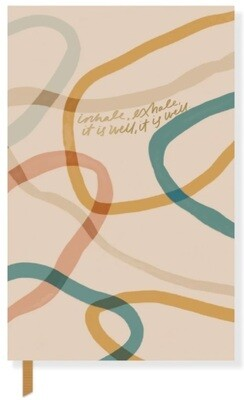 Canvas MNH Inhale Paperback Journal w/ Pocket