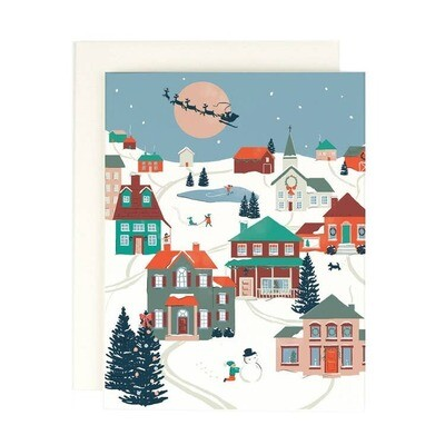 Folk Village Christmas Boxed Cards (8)