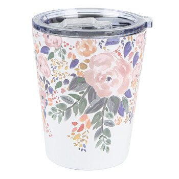 Autumn Blossom Stainless Coffee Tumbler