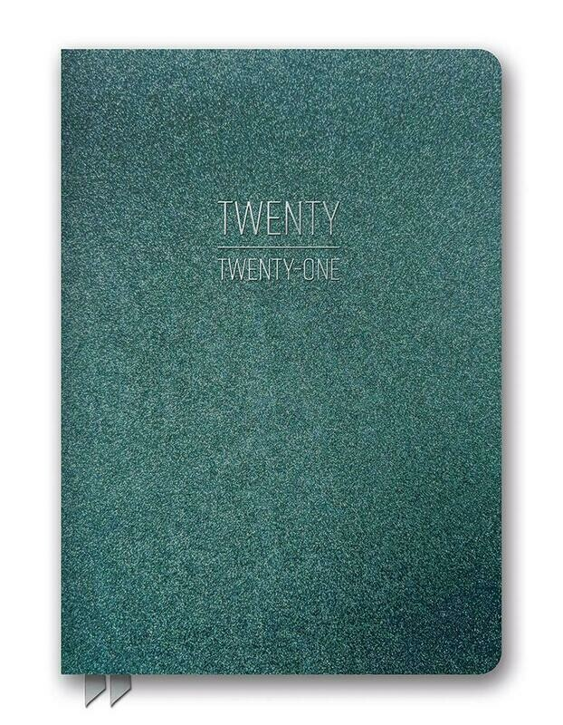 2021 Hunter Green Shimmer Leatheresque Planner