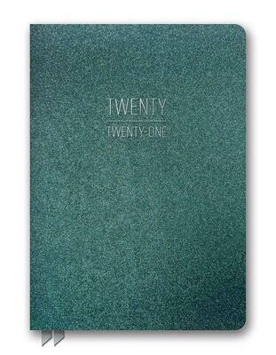 2021 Hunter Green Shimmer Leatheresque Planner