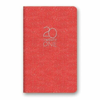 2021 Ruby Shimmer Leatheresque Mini Monthly Planner