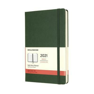 Moleskine 2021 Daily Diary - Ruled / Green Cover