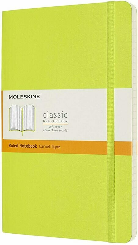 Lemon Green Moleskine Extra Large Softcover Plain Notebook