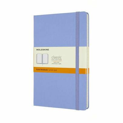 Hydrangea Blue Moleskine Large Ruled Softcover Notebook