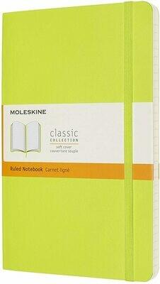 Lemon Green Moleskine Large Ruled Softcover Notebook