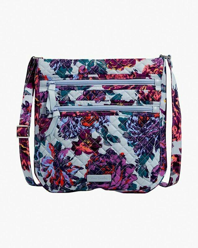 Triple Zip Hipster Neon Blooms