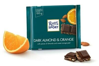 Ritter Sport Dark Chocolate with Almond & Orange