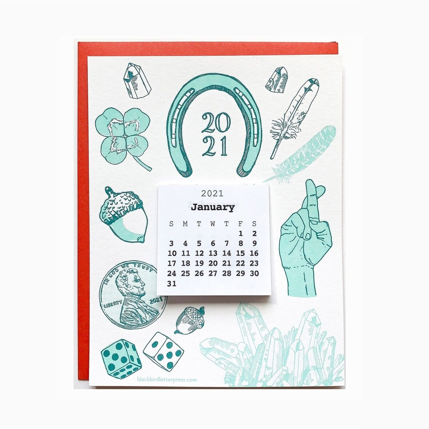 2021 LUCK Mini Calendar Card