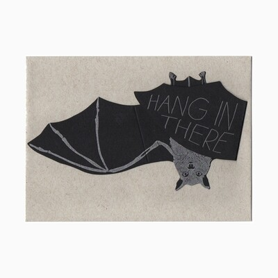 Hang in There Bat Card