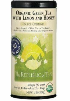 Organic Green Tea with Lemon and Honey Bags