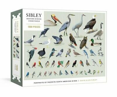 Sibley Backyard Birding 1000 Piece Puzzle
