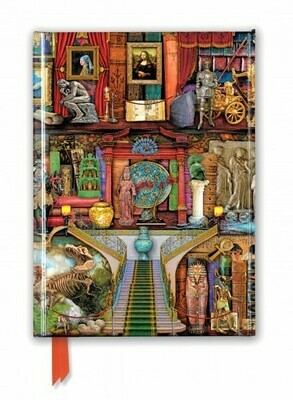 Aimee Stewart: Museum Bookshelves (Foiled Journal)