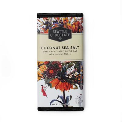 Coconut Sea Salt - Dark Chocolate Truffle Bar