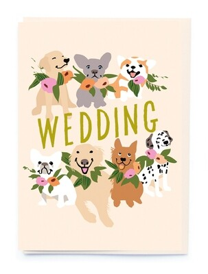 Dogs and Wedding Flowers