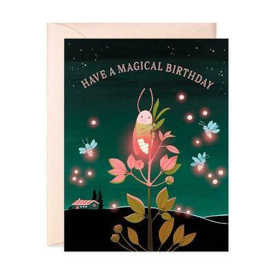 Firefly Birthday Card