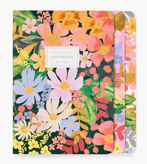 Assorted Set of 3 Marguerite Notebooks