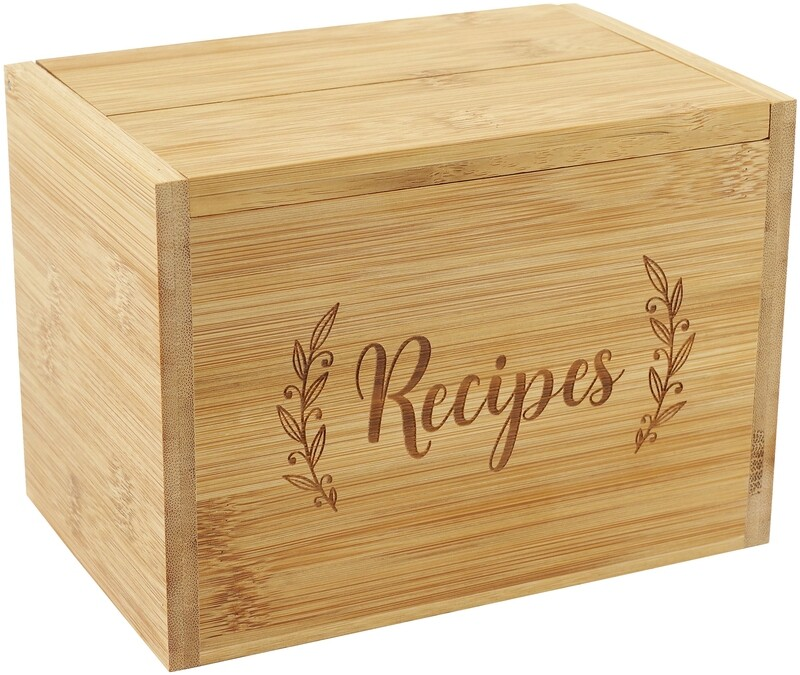 Bamboo Recipe Box Set