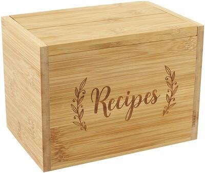 Bamboo Recipe Box Set