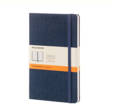 Moleskine Large Ruled Notebook - Sapphire Blue Soft Cover
