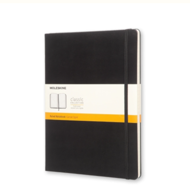 Moleskine Classic Notebook - Black - Ruled Pages XL Soft Cover