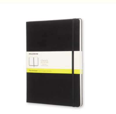 Moleskine Classic Notebook - Black - Unlined Pages XL Soft Cover