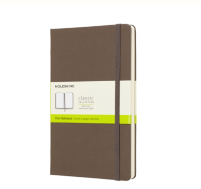 Moleskine Brown Large Unlined Notebook Soft Cover