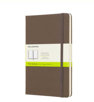 Moleskine Brown Large Unlined Hard Cover Notebook