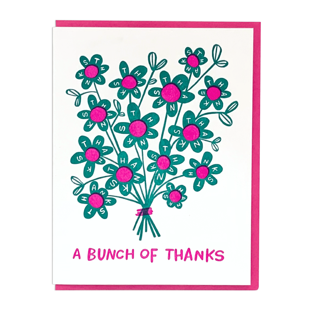 A Bunch of Thanks Card