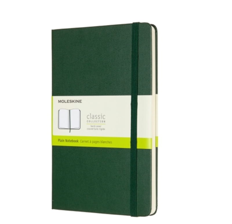 Moleskine - Myrtle Green XL Unlined Notebook