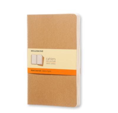 Moleskine Cahier Large Ruled Journals - Brown Cardboard Cover