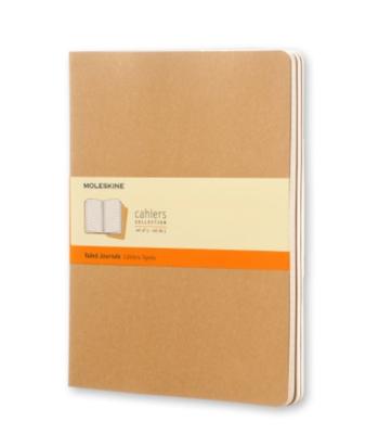 Moleskine Cahiers XL Ruled Journals - Brown Cardboard Covers
