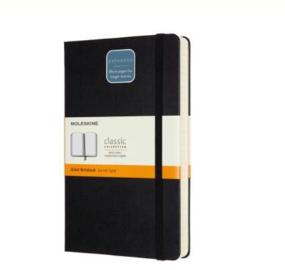 Moleskine Large Ruled Notebook Expanded (400 pg.) - Black Soft Cover