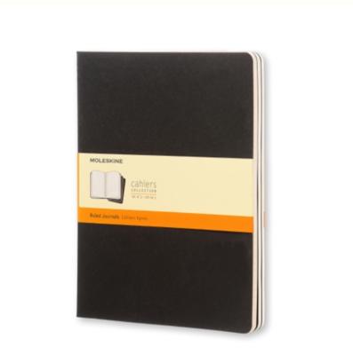 Moleskine Cahiers XL Ruled Journals - Black Cardboard Covers