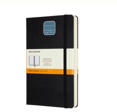 Moleskine Large Ruled Notebook Expanded (400 pg.) - Black Hard Cover