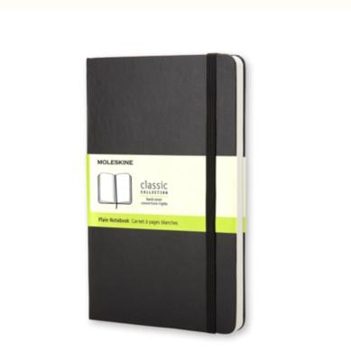 Moleskine Large Plain Notebook - Black Hard Cover