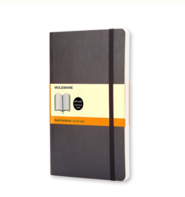 Moleskine Large Ruled Notebook - Black Soft Cover
