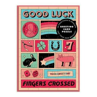 Good Luck Greeting Card Puzzle