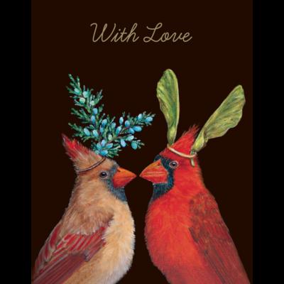 With Love Cardinal Card