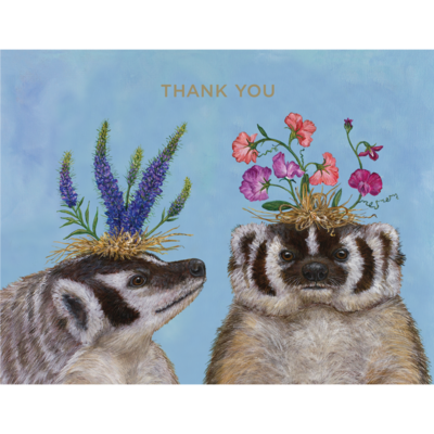 Thank You Badger Sisters Card