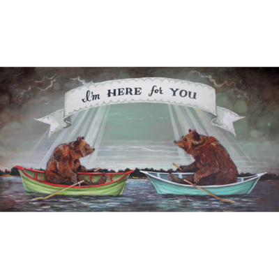 I'm Here For You Boats Card
